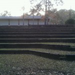 Another cool picture of the amphitheater. That;s the dining hall at the top of the hill.